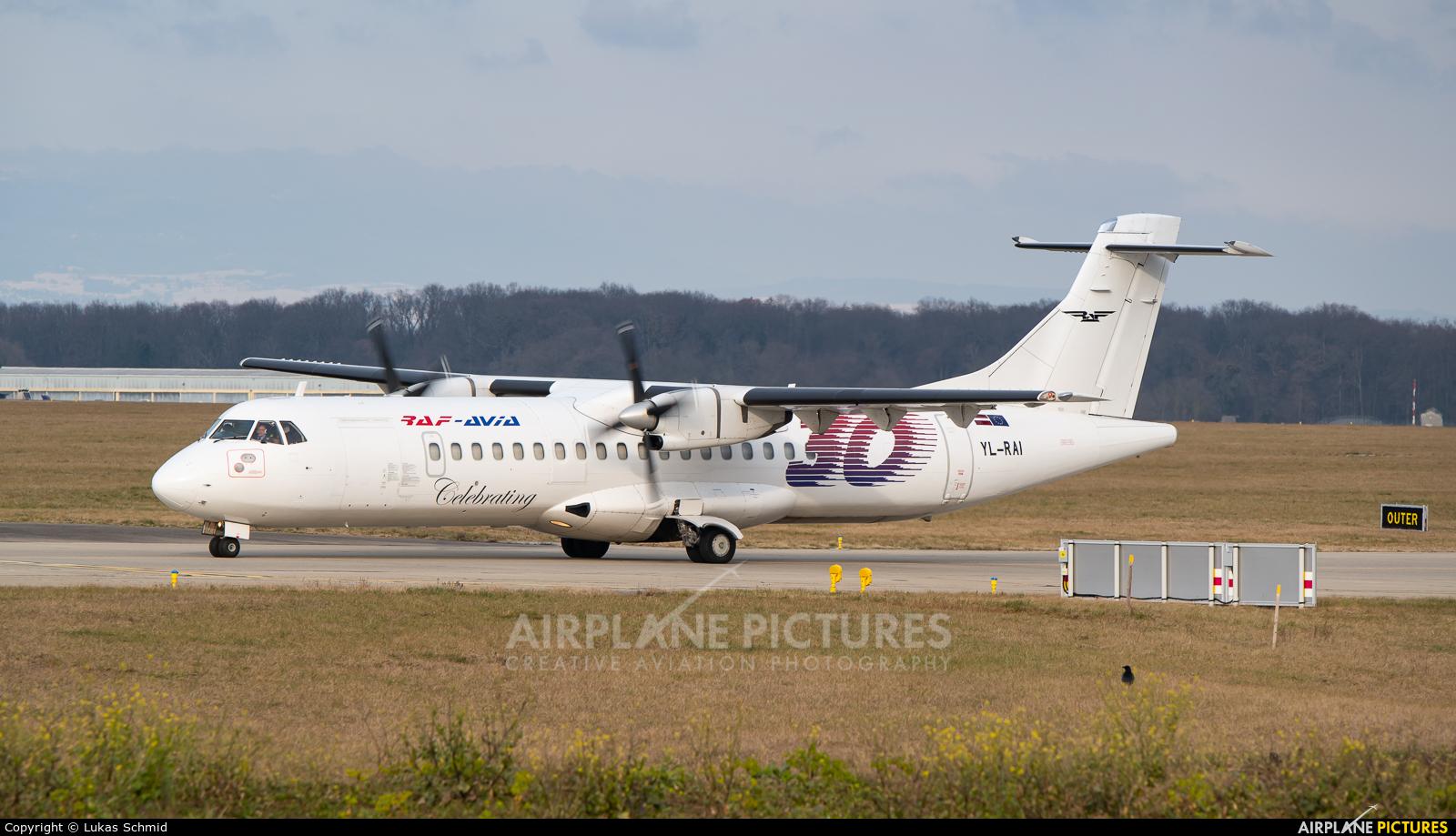 RAF Avia YL-RAI aircraft at Geneva Intl