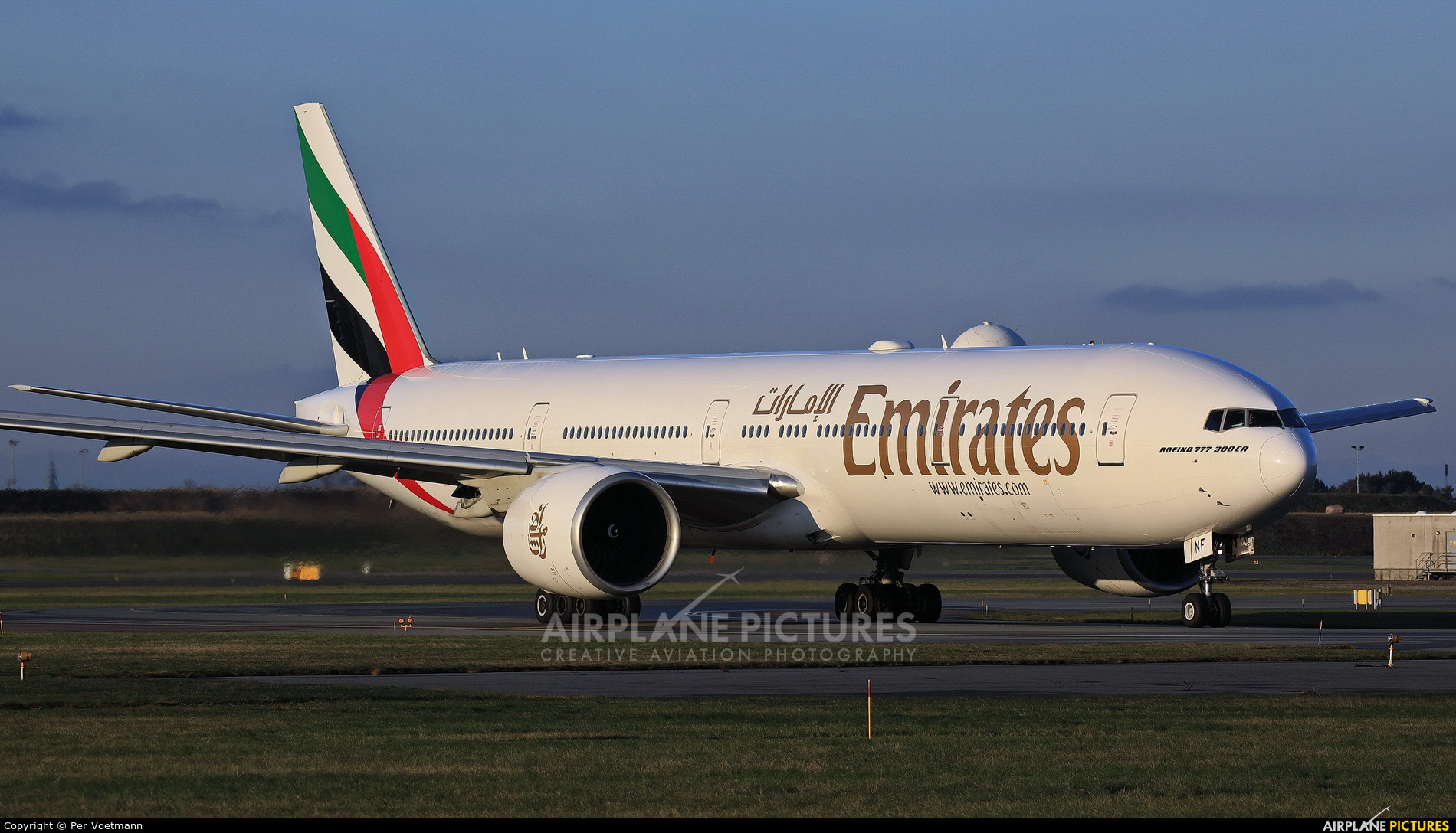Emirates Airlines A6-ENF aircraft at Copenhagen Kastrup