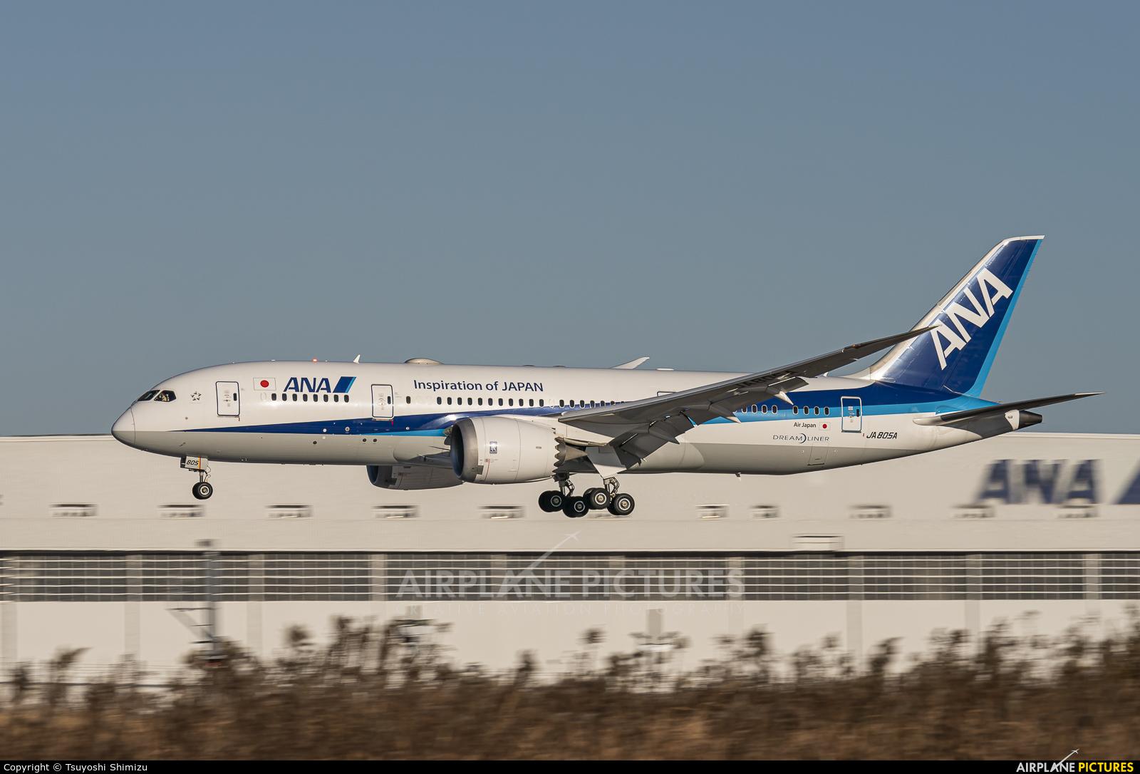ANA - All Nippon Airways JA805A aircraft at Tokyo - Narita Intl