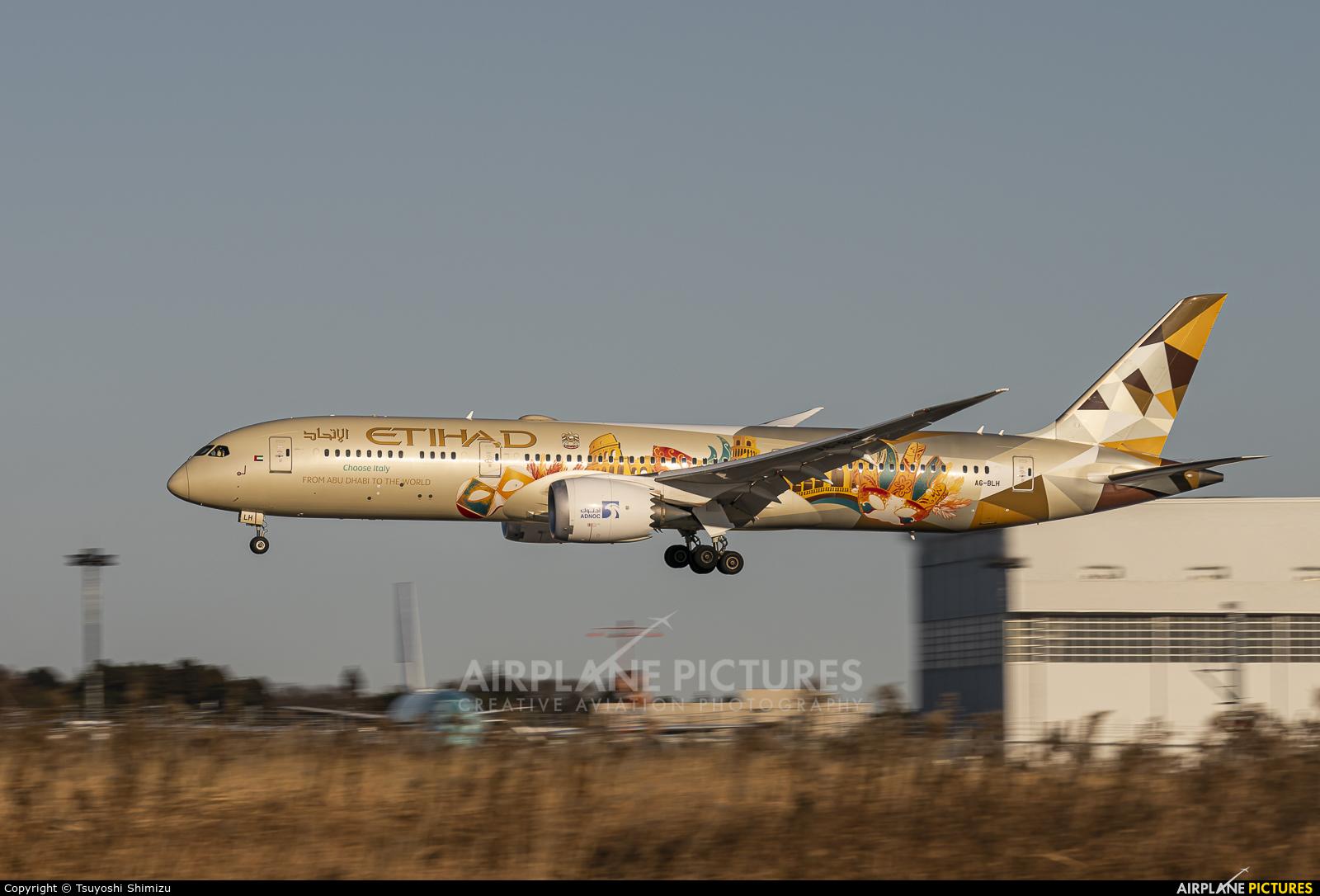 Etihad Airways A6-BLH aircraft at Tokyo - Narita Intl