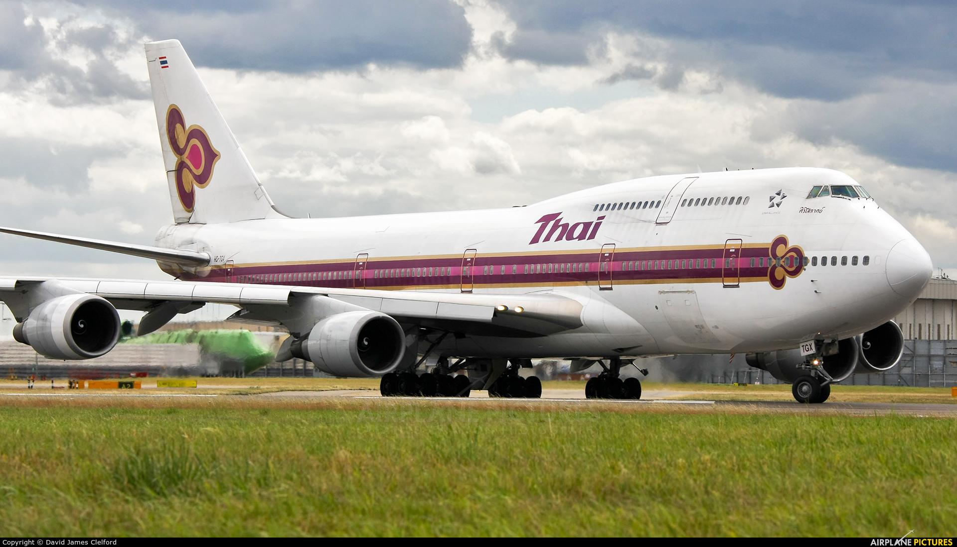 Thai Airways HS-TGX aircraft at London - Heathrow