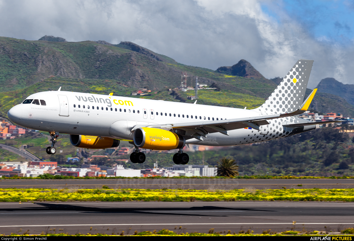 Vueling Airlines EC-MEA aircraft at Tenerife Norte - Los Rodeos