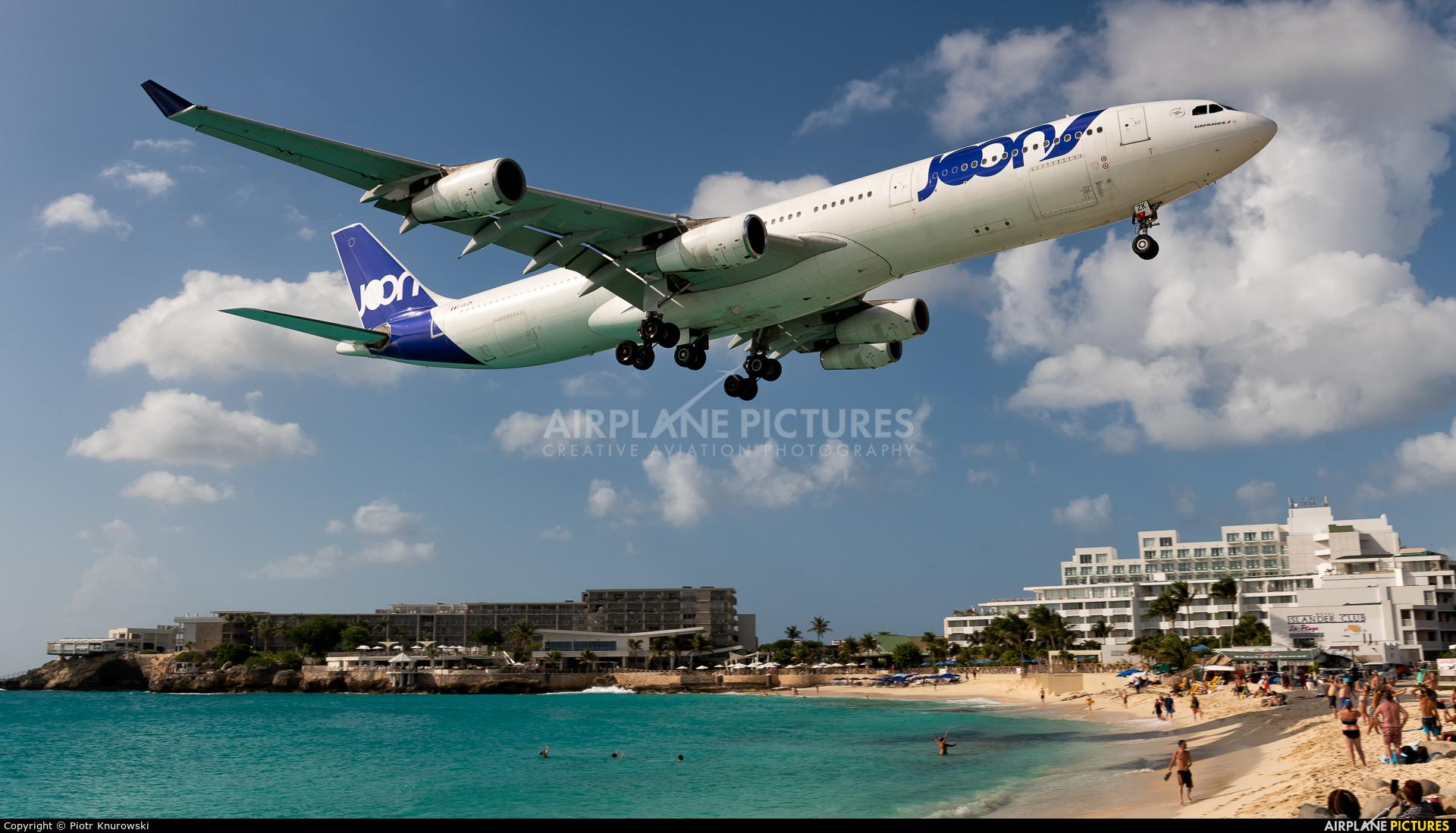 Joon F-GLZK aircraft at Sint Maarten - Princess Juliana Intl