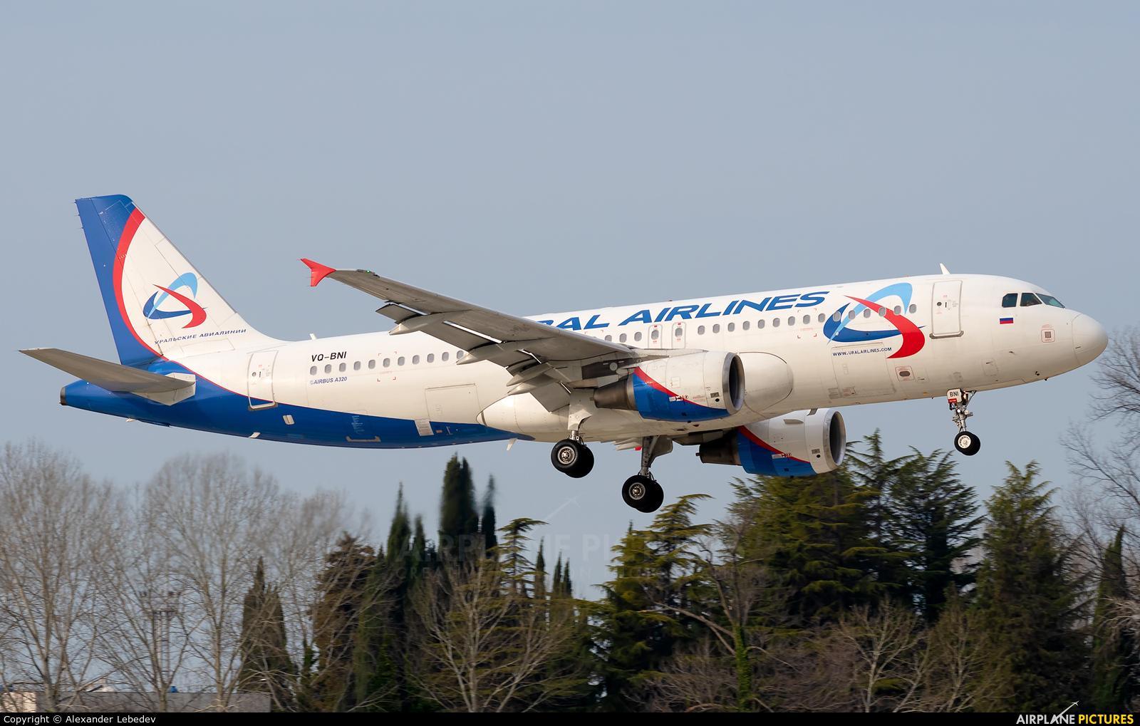 Ural Airlines VQ-BNI aircraft at Sochi Intl