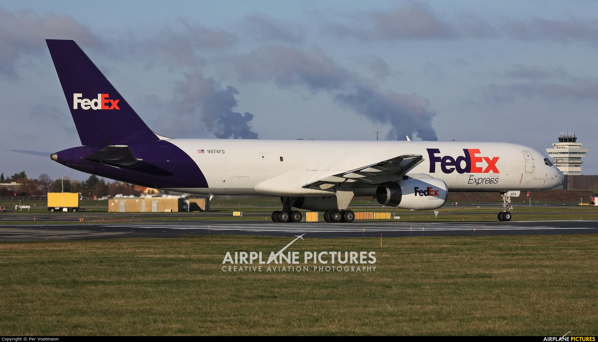 FedEx Federal Express N974FD aircraft at Copenhagen Kastrup