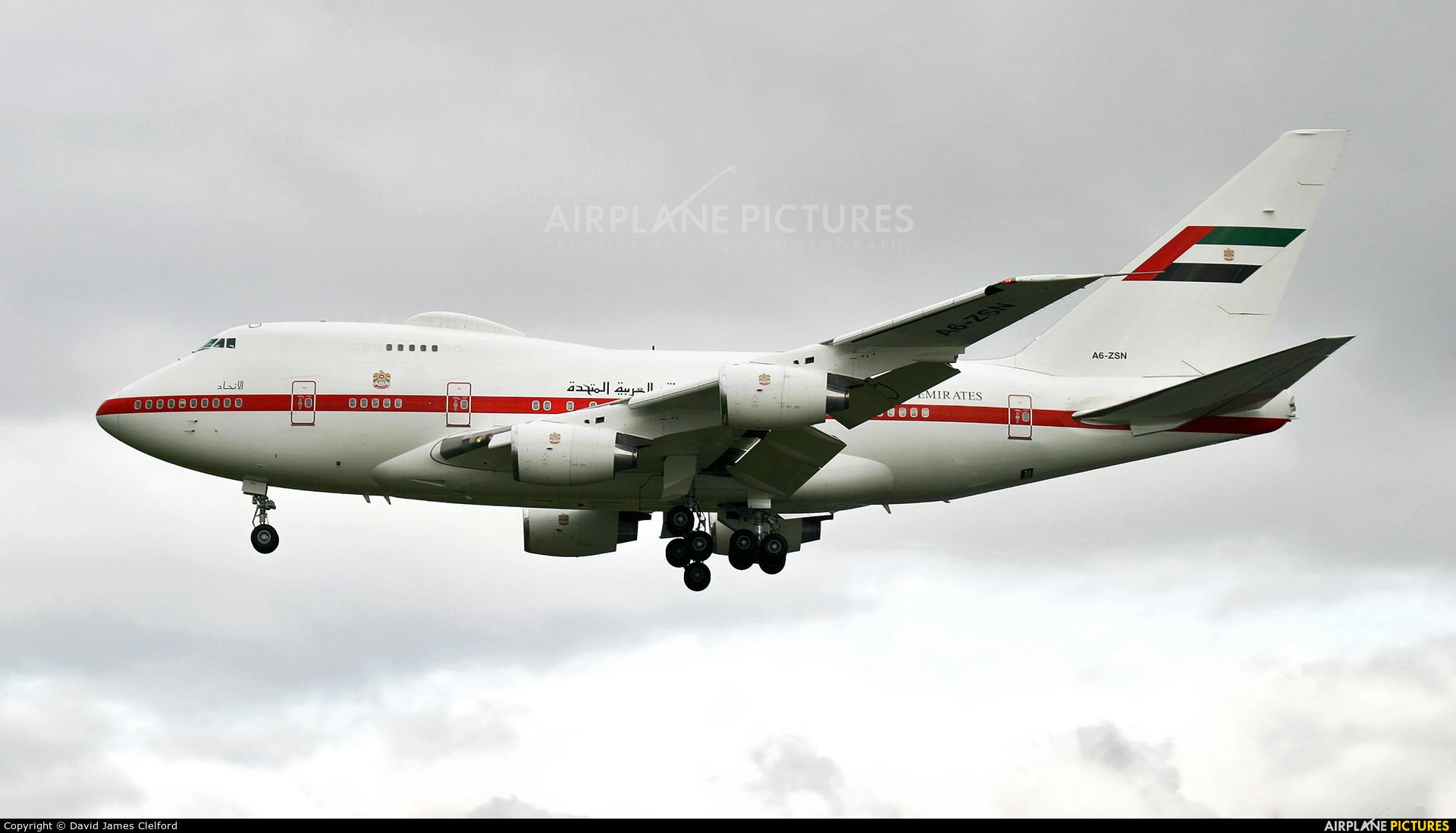 Abu Dhabi Amiri Flight A6-ZSN aircraft at London - Heathrow