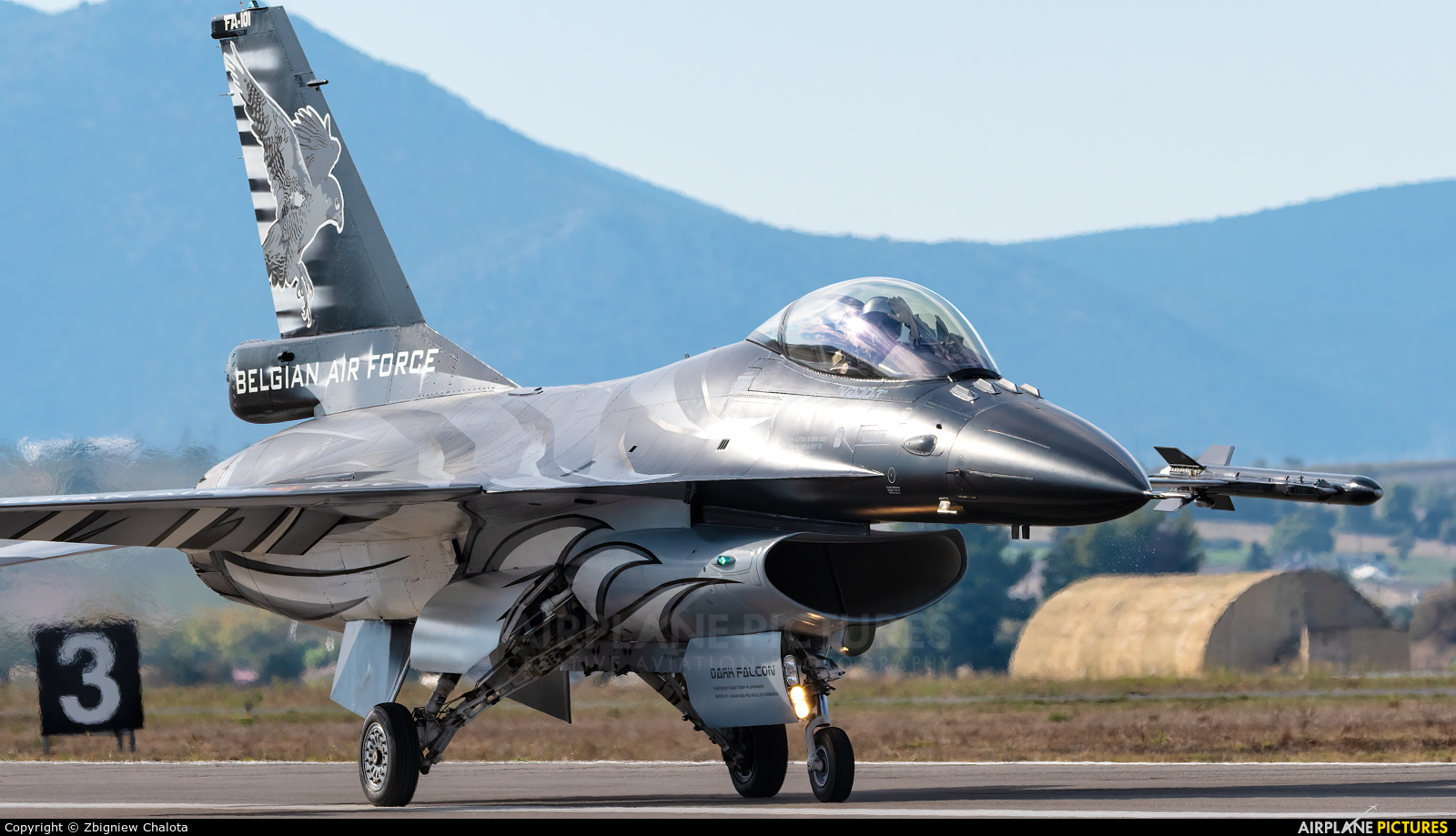 Belgium - Air Force FA-101 aircraft at Tanagra