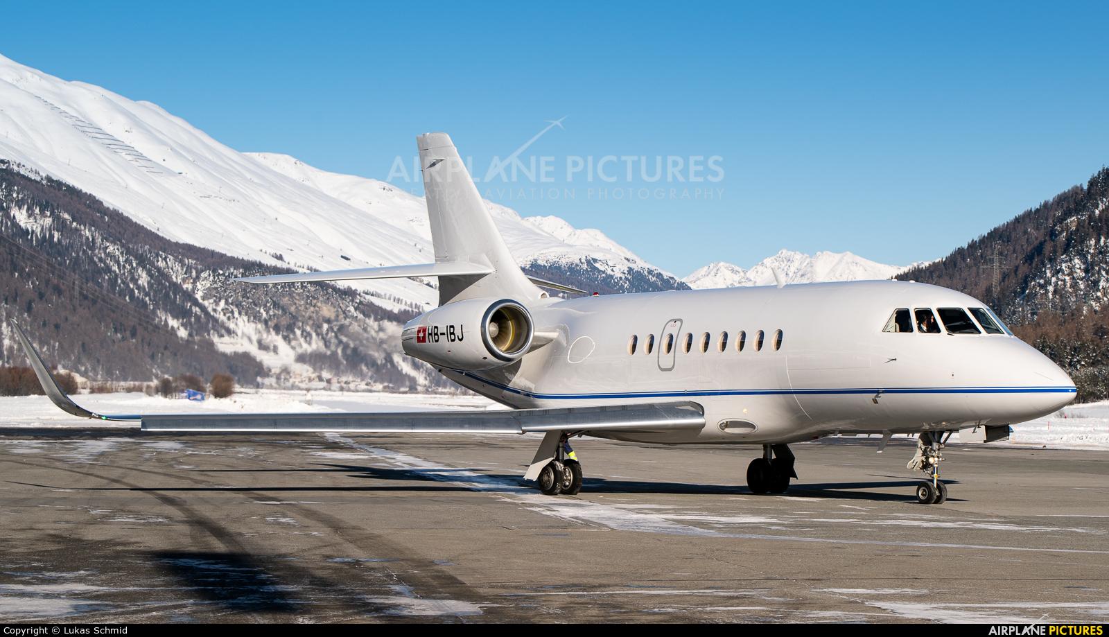 Private HB-IBJ aircraft at Samedan - Engadin
