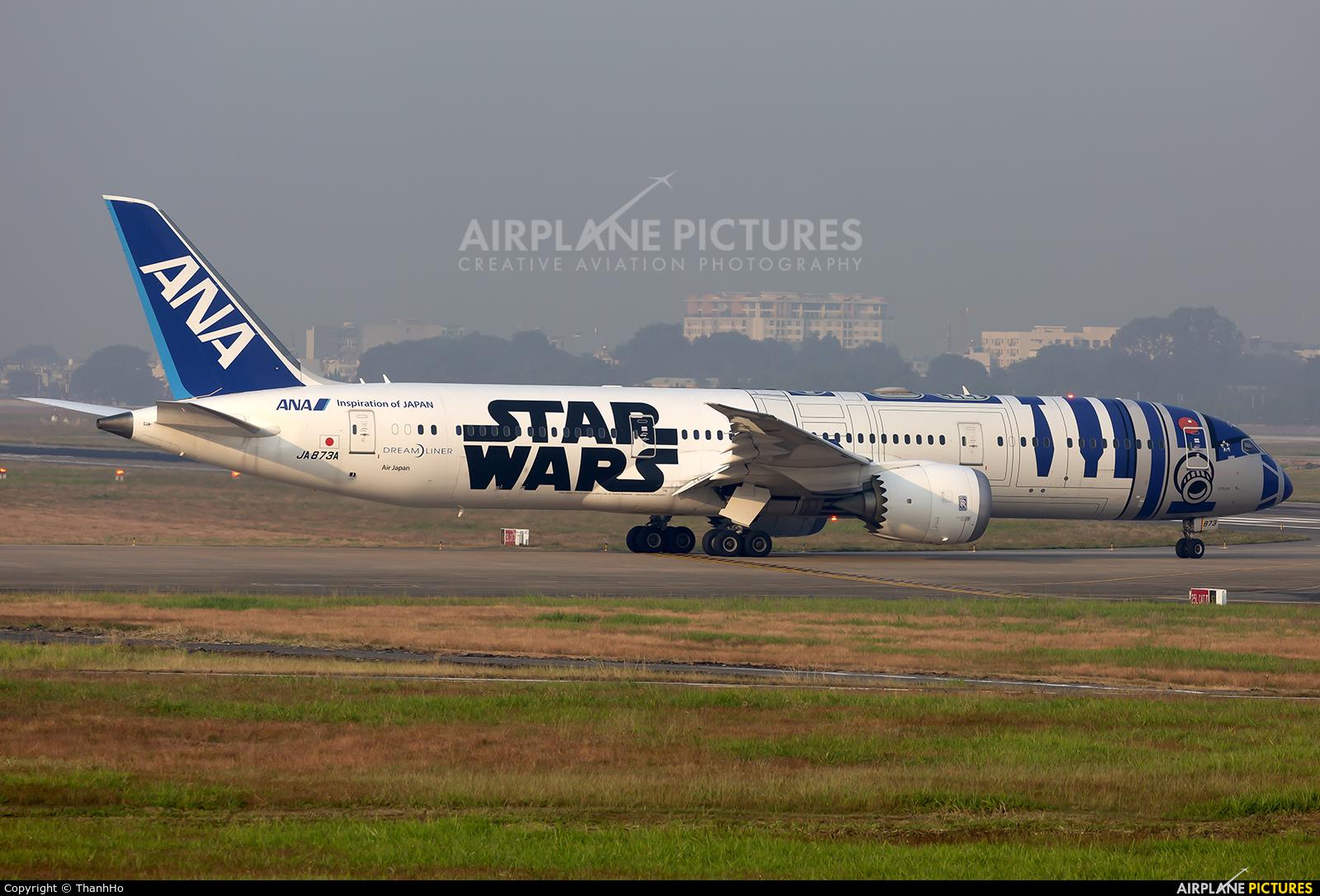ANA - All Nippon Airways JA873A aircraft at Ho Chi Minh City - Tan Son Nhat Intl