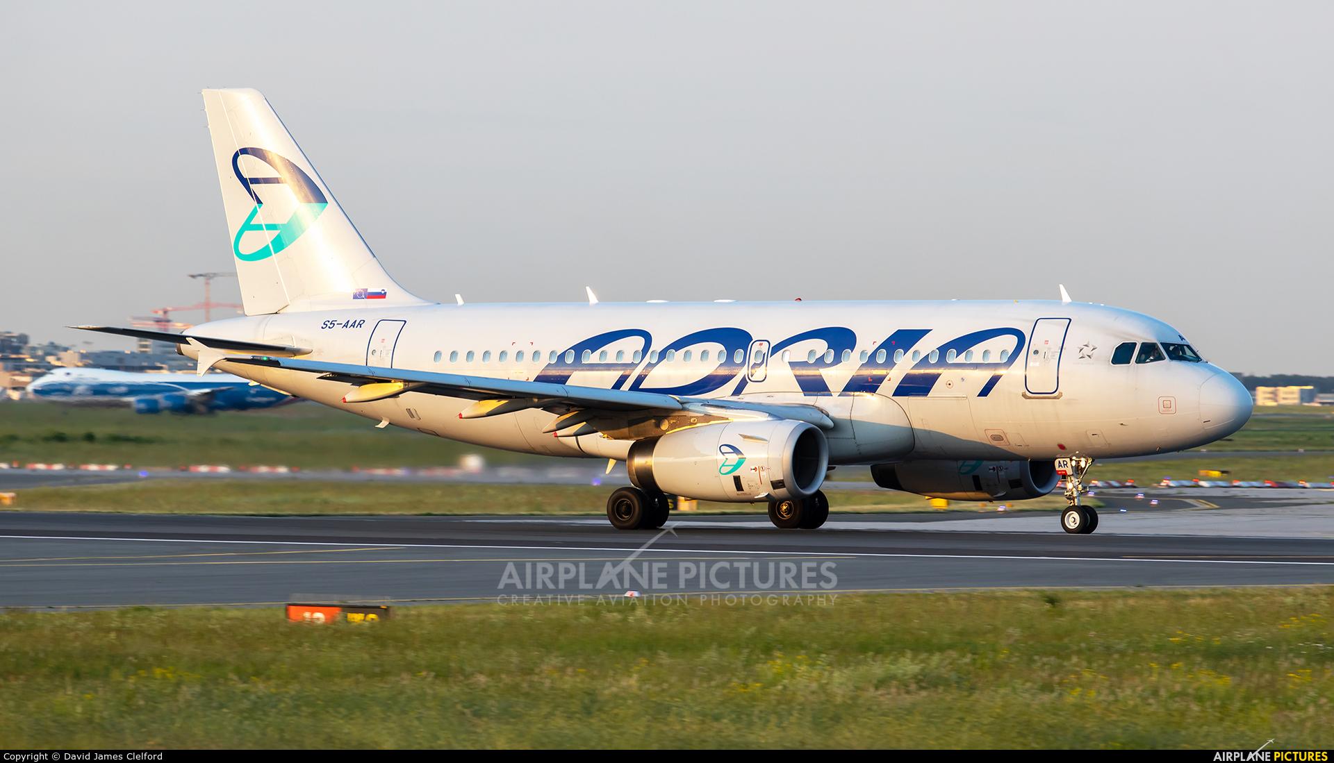Adria Airways S5-AAR aircraft at Frankfurt