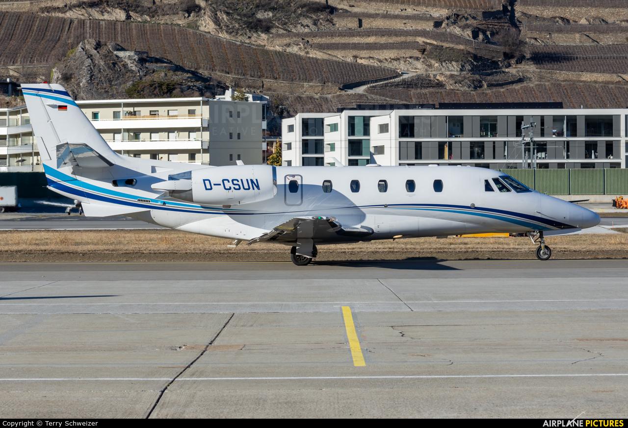 Air Hamburg D-CSUN aircraft at Sion