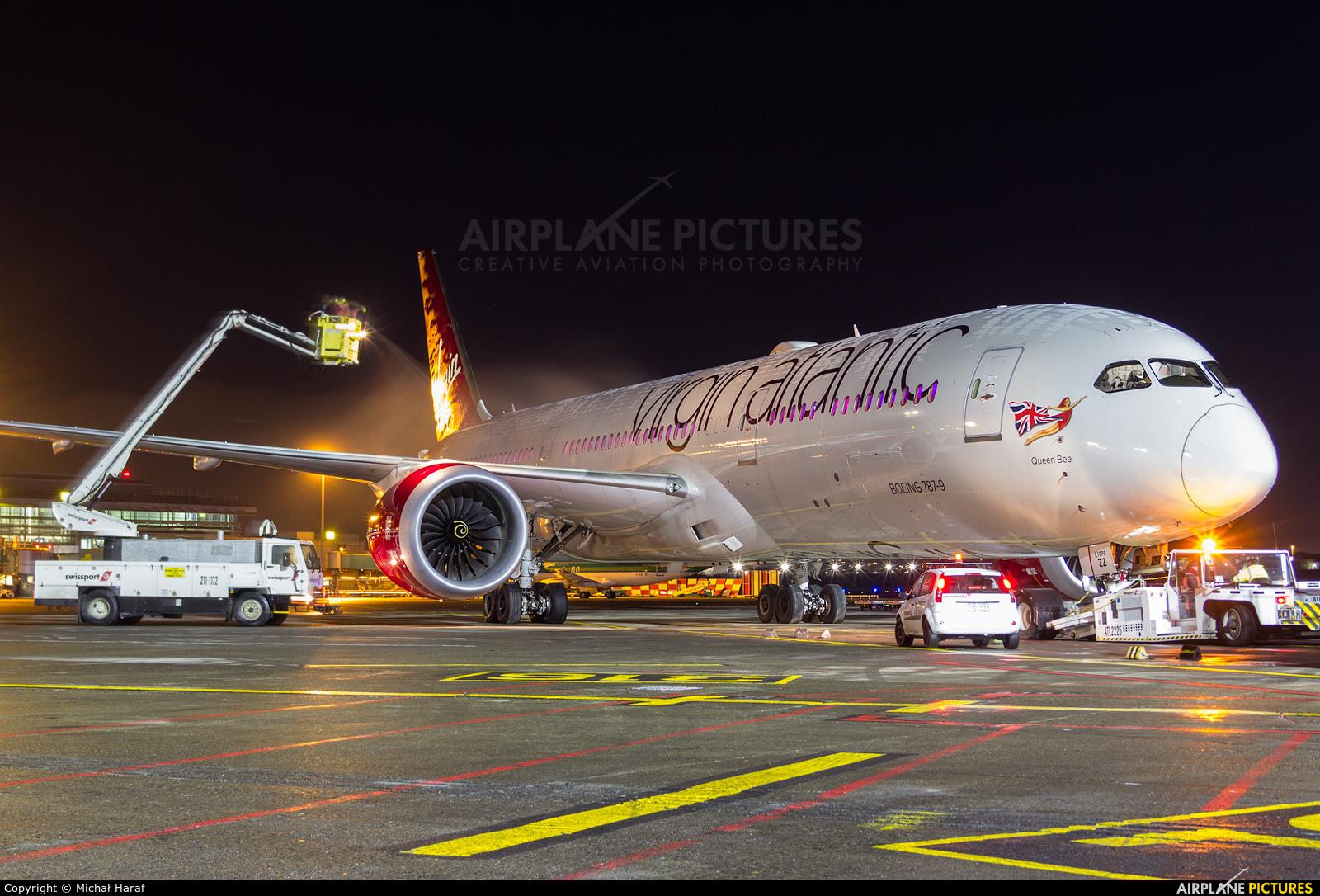 Virgin Atlantic G-VBZZ aircraft at Dublin