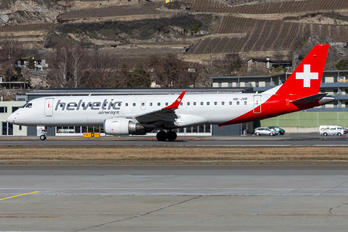 HB-JVR - Helvetic Airways Embraer ERJ-190 (190-100)