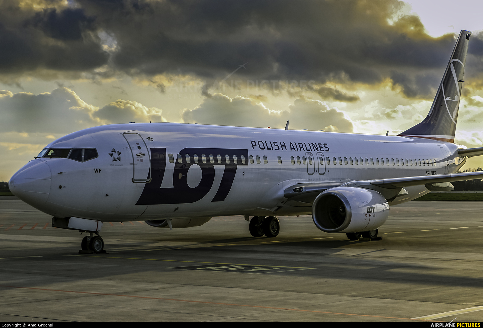 LOT - Polish Airlines SP-LWF aircraft at Warsaw - Frederic Chopin