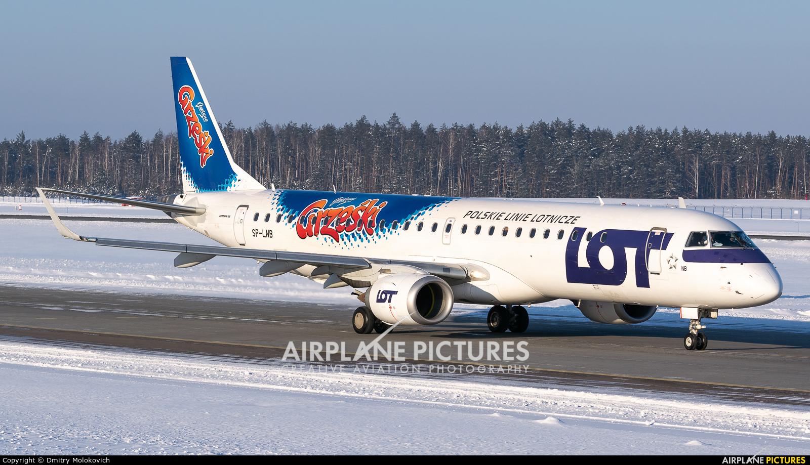 LOT - Polish Airlines SP-LNB aircraft at Minsk Intl