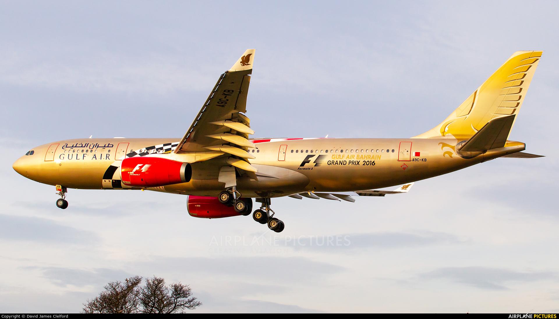 Gulf Air A9C-KB aircraft at London - Heathrow
