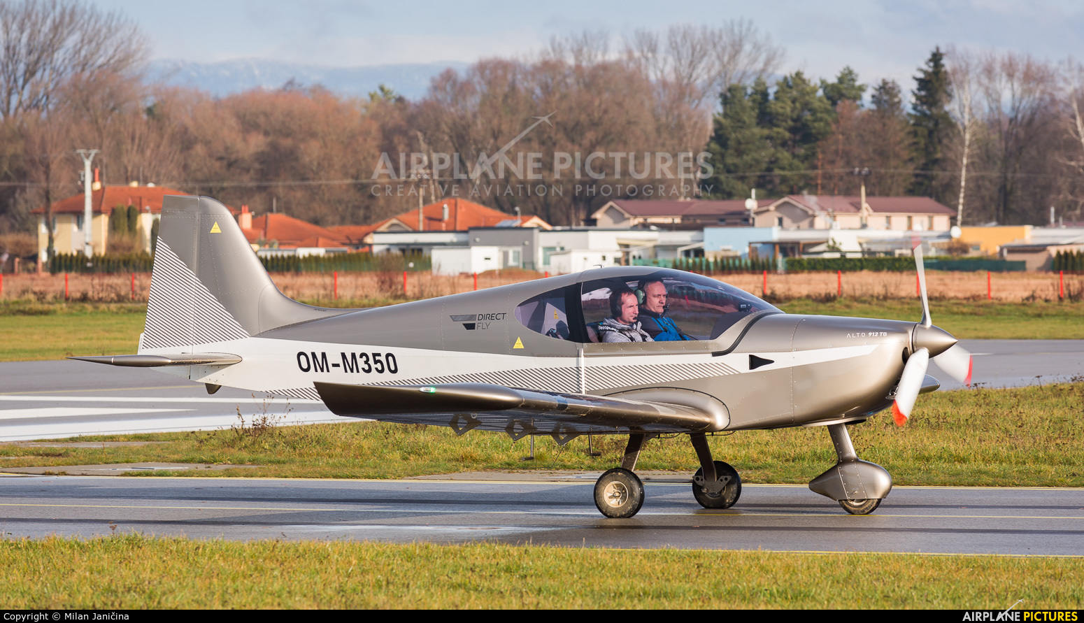 Private OM-M350 aircraft at Prievidza