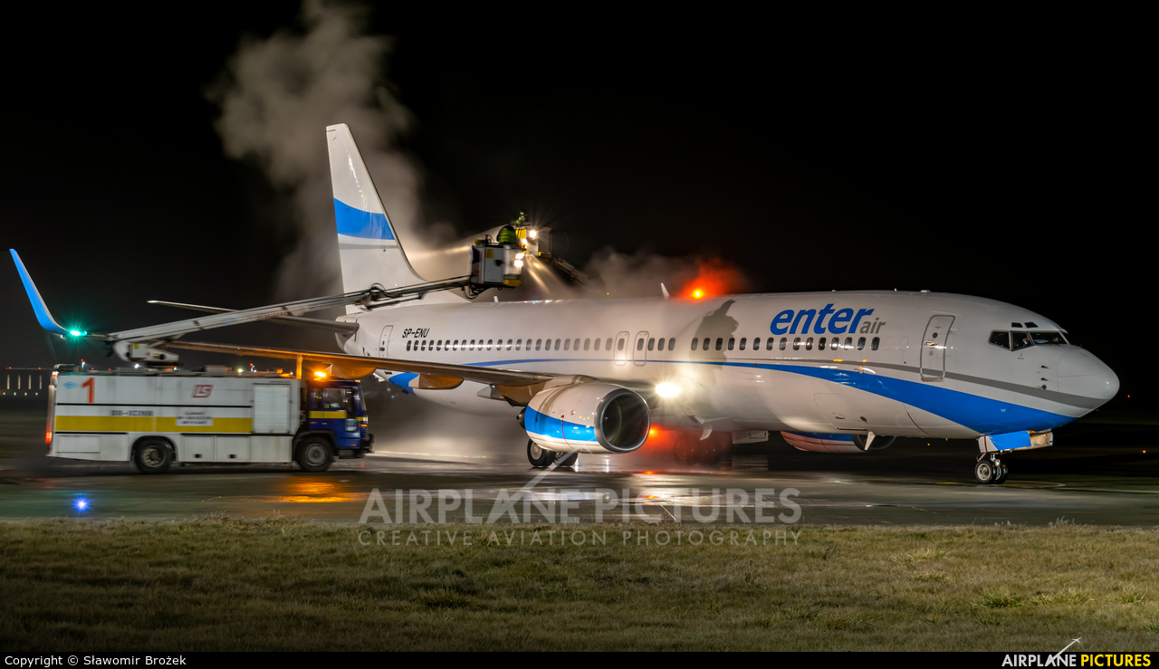 Enter Air SP-ENU aircraft at Katowice - Pyrzowice