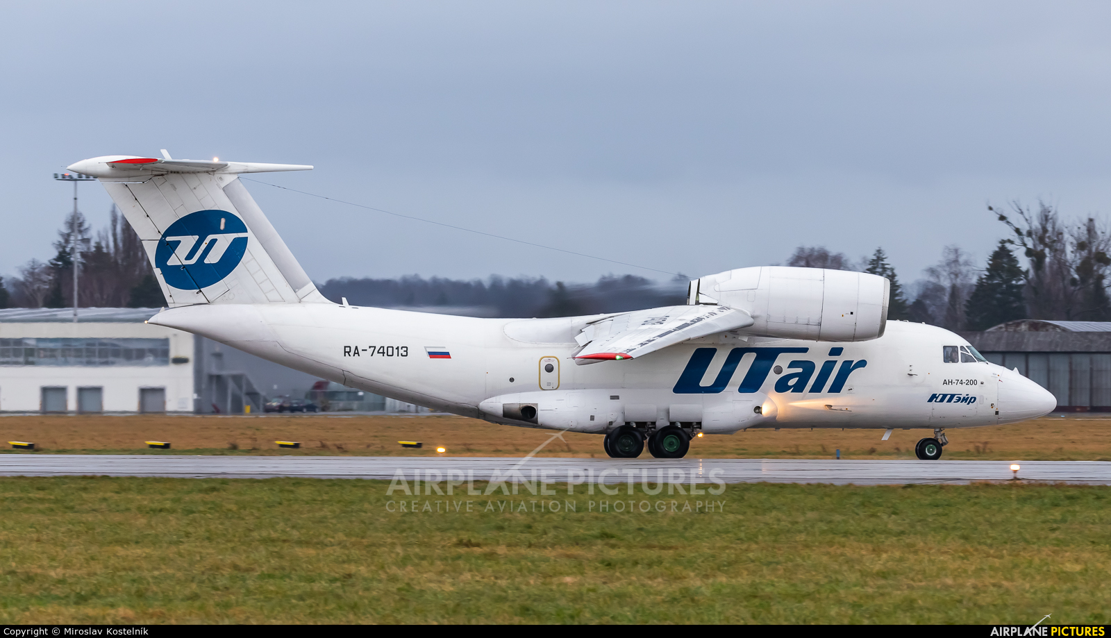 UTair RA-74013 aircraft at Ostrava Mošnov