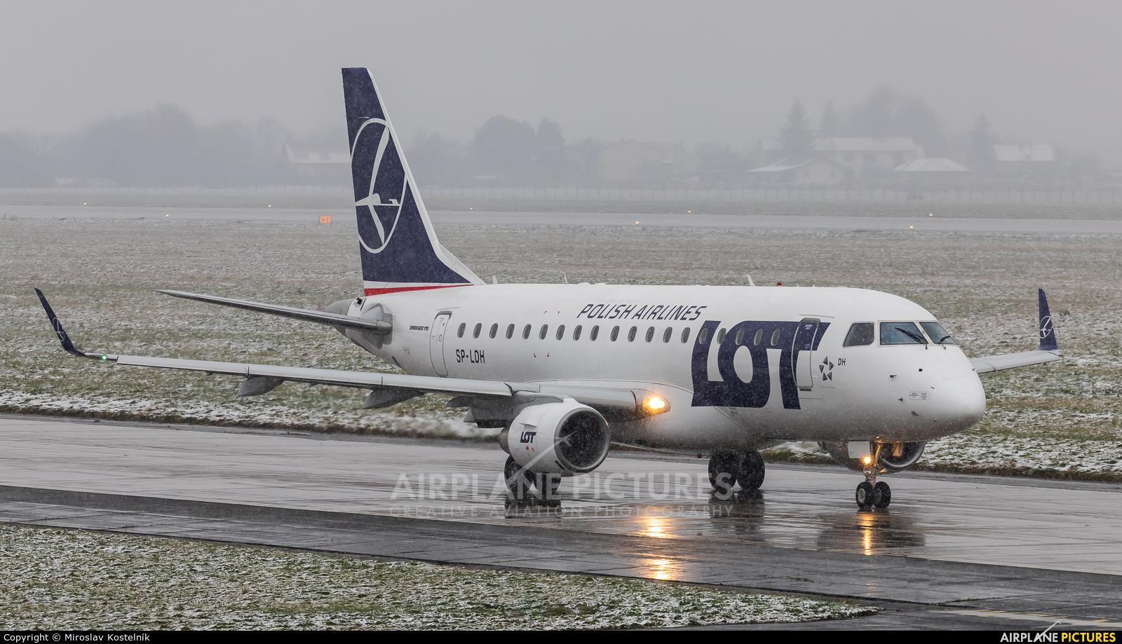 LOT - Polish Airlines SP-LDH aircraft at Ostrava Mošnov