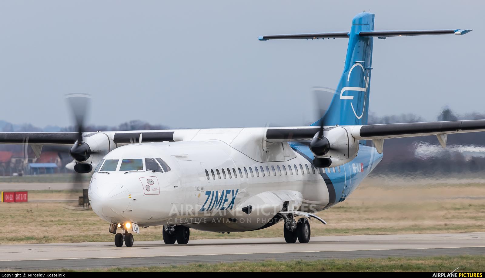 Zimex Aviation HB-ALM aircraft at Ostrava Mošnov