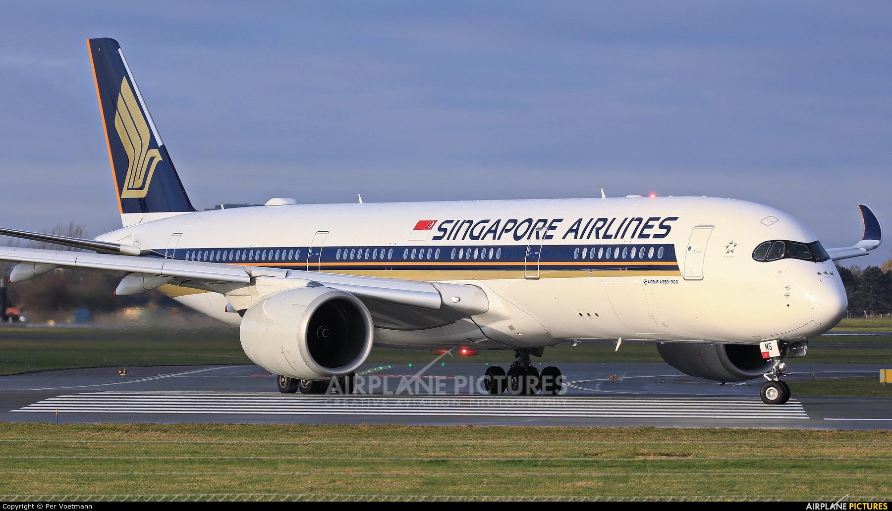 Singapore Airlines 9V-SMS aircraft at Copenhagen Kastrup