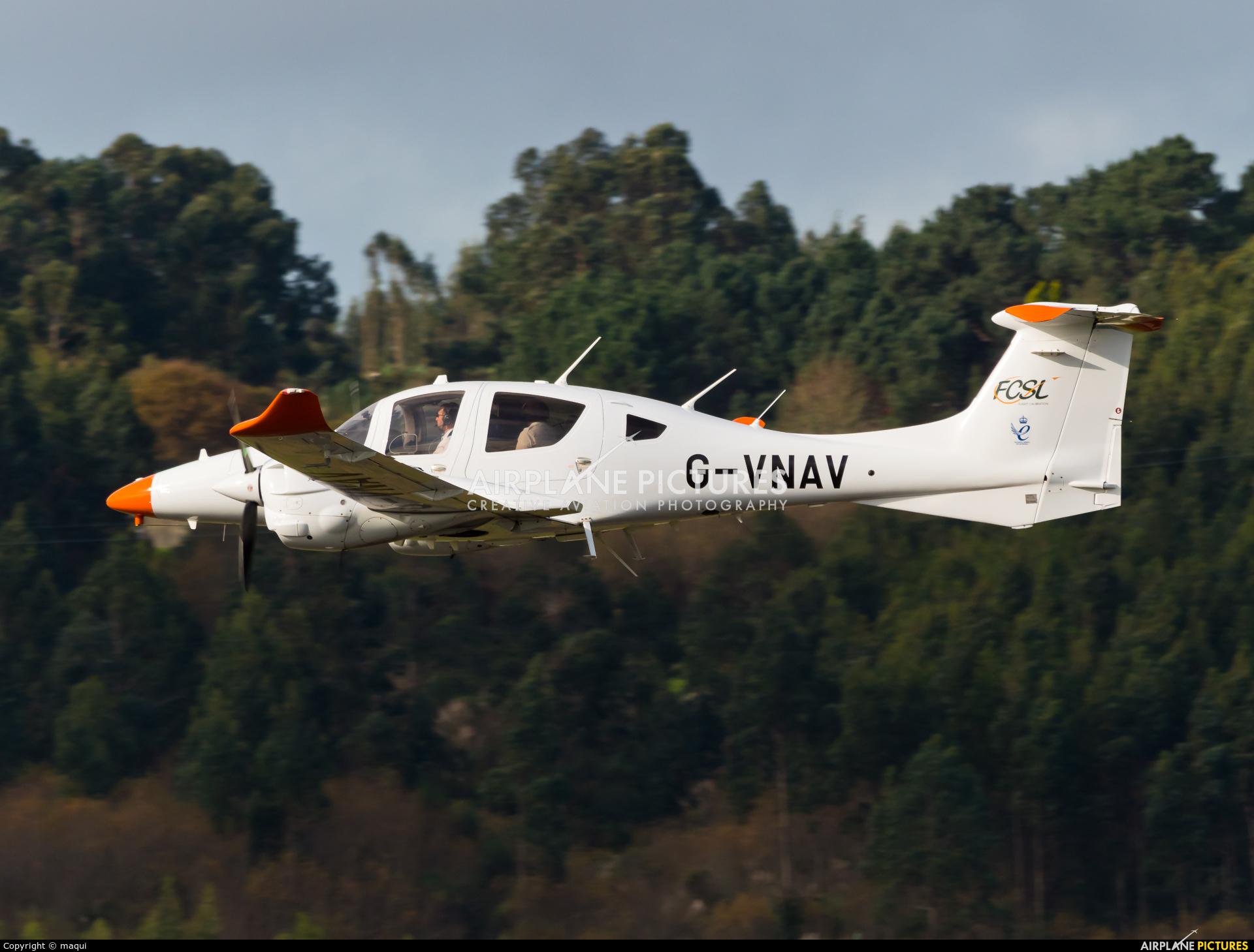 Flight Calibration Services G-VNAV aircraft at La Coruña