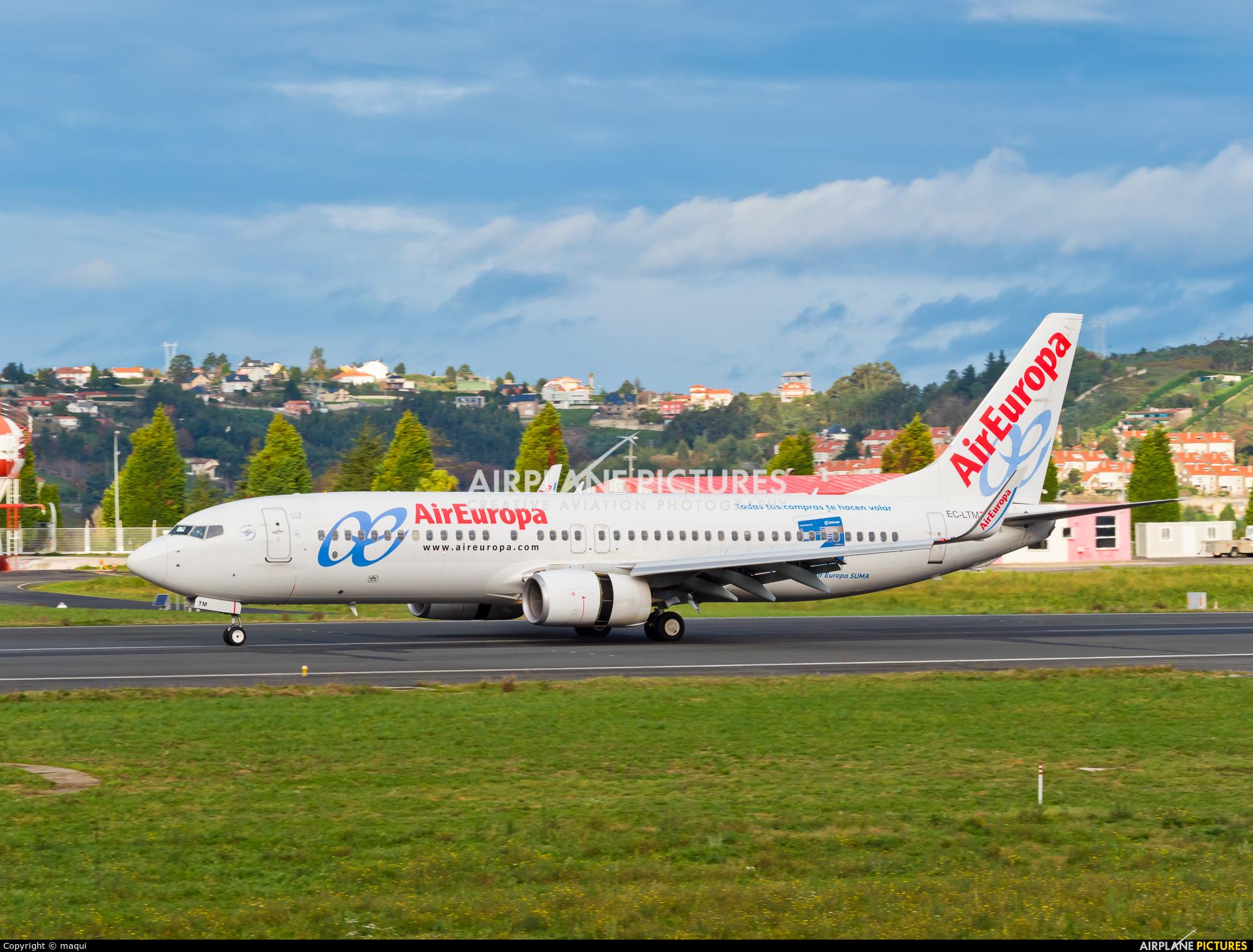Air Europa EC-LTM aircraft at La Coruña