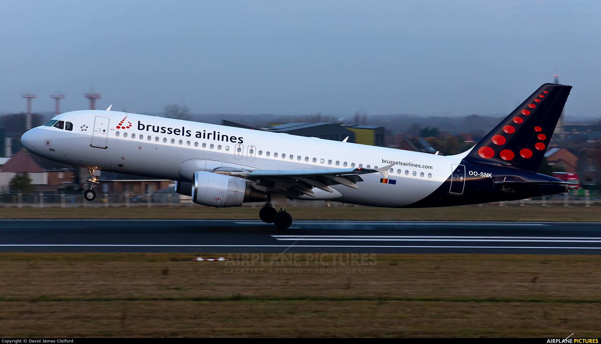Brussels Airlines OO-SNK aircraft at Brussels - Zaventem