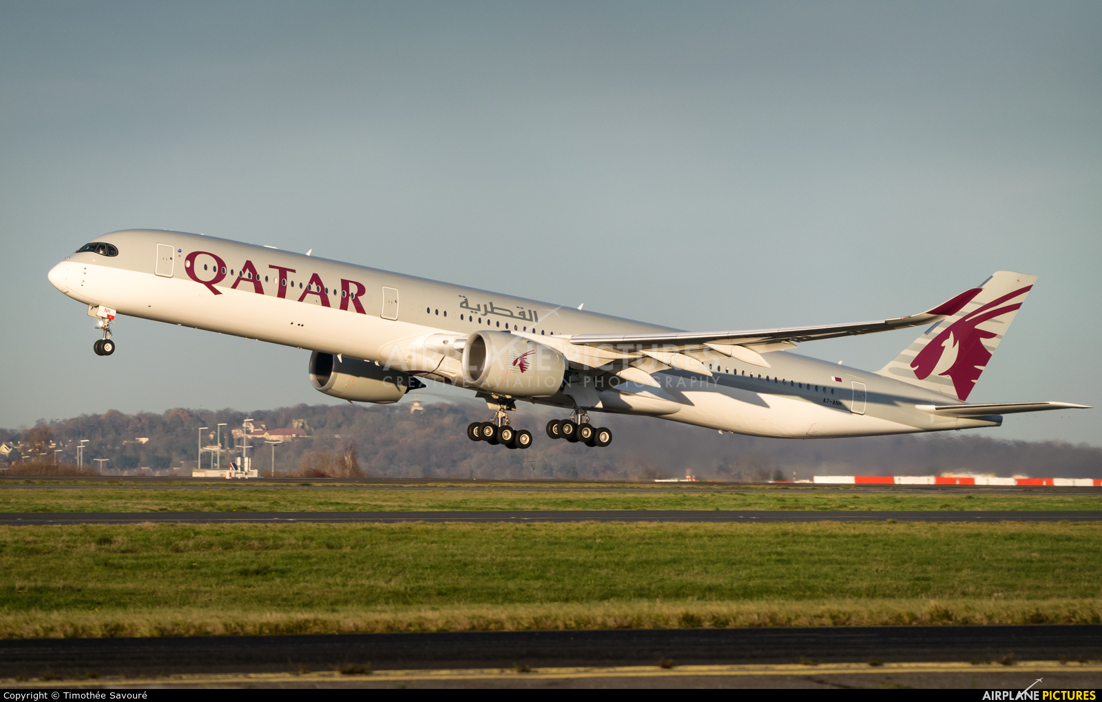 Qatar Airways A7-ANH aircraft at Paris - Charles de Gaulle