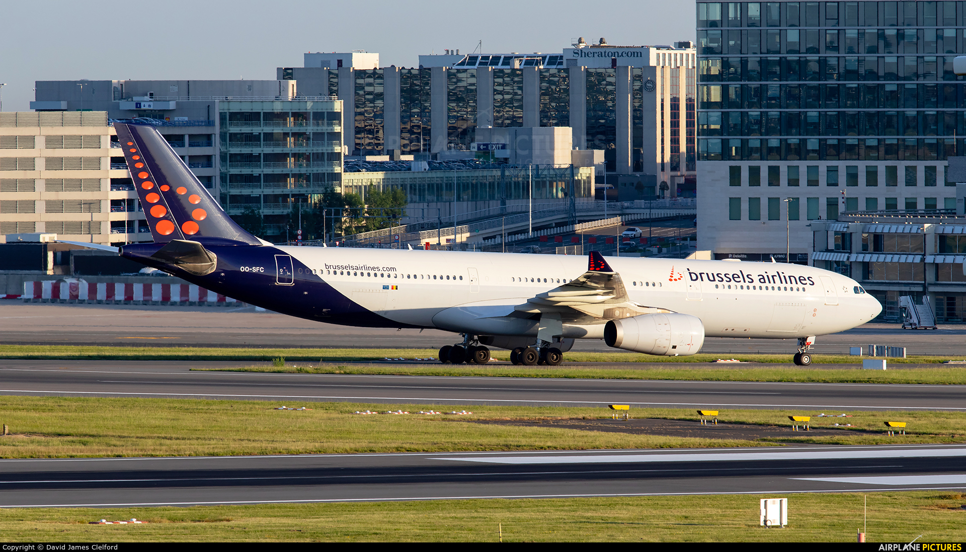 Brussels Airlines OO-SFC aircraft at Brussels - Zaventem