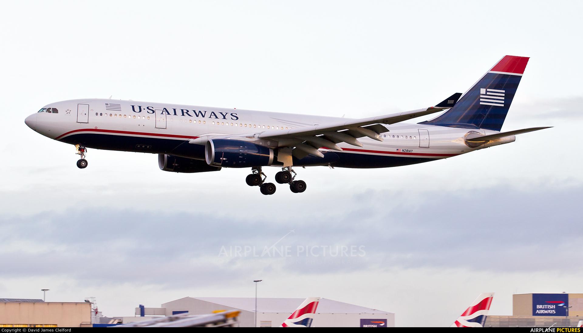 US Airways N281AY aircraft at London - Heathrow