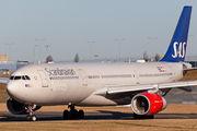 Rare visit of SAS Airbus A330 to Birmingham title=
