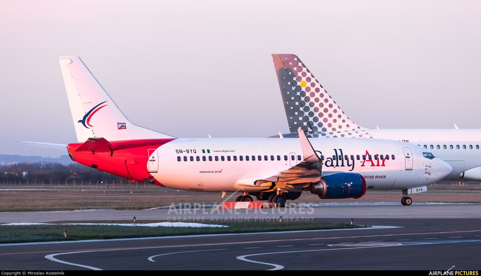 Cally Air 5N-BYQ aircraft at Ostrava Mošnov