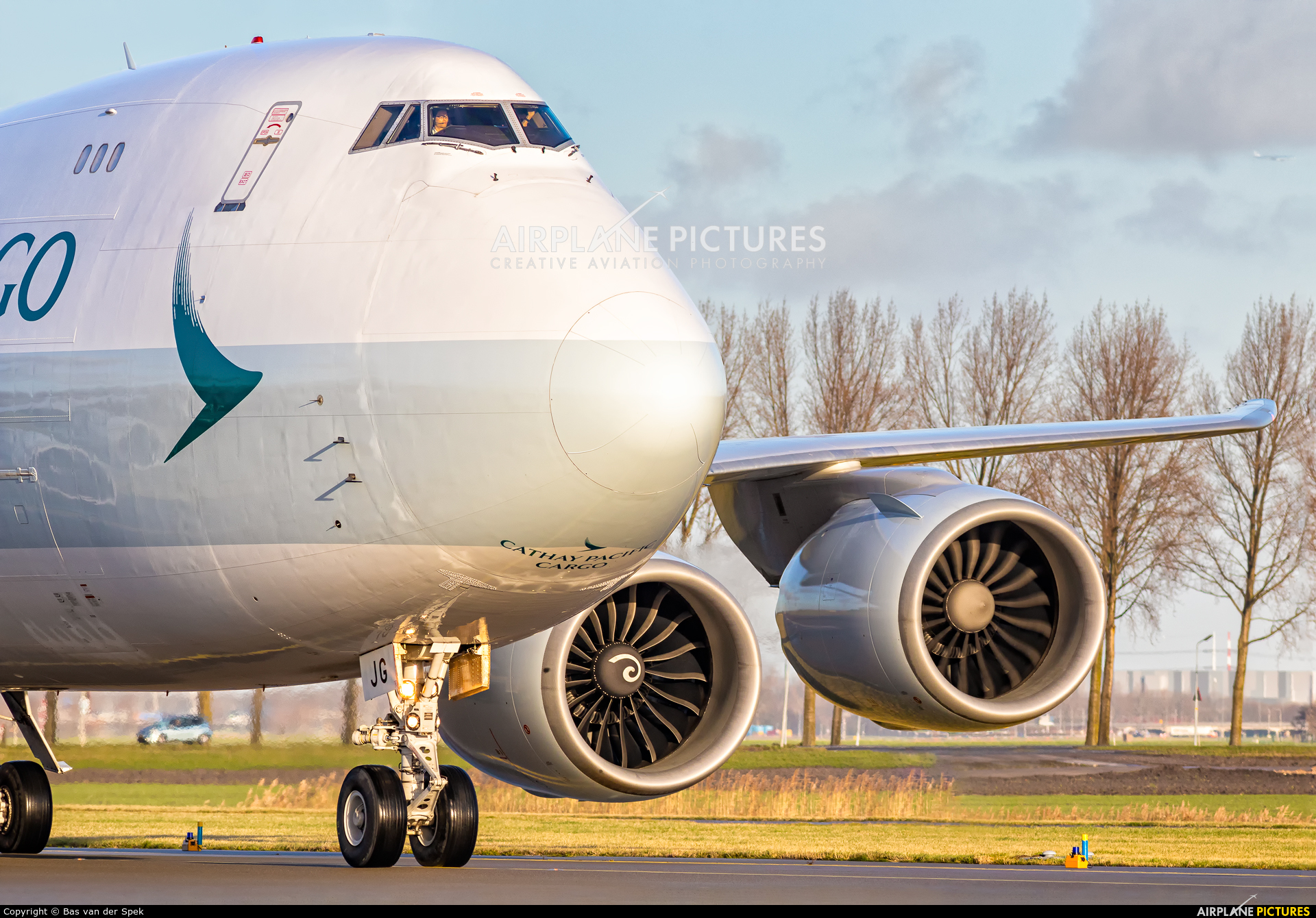 Cathay Pacific Cargo B-LJG aircraft at Amsterdam - Schiphol