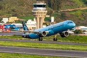 Rare visit of La Compagnie A321neo to Tenerife Los Rodeos title=