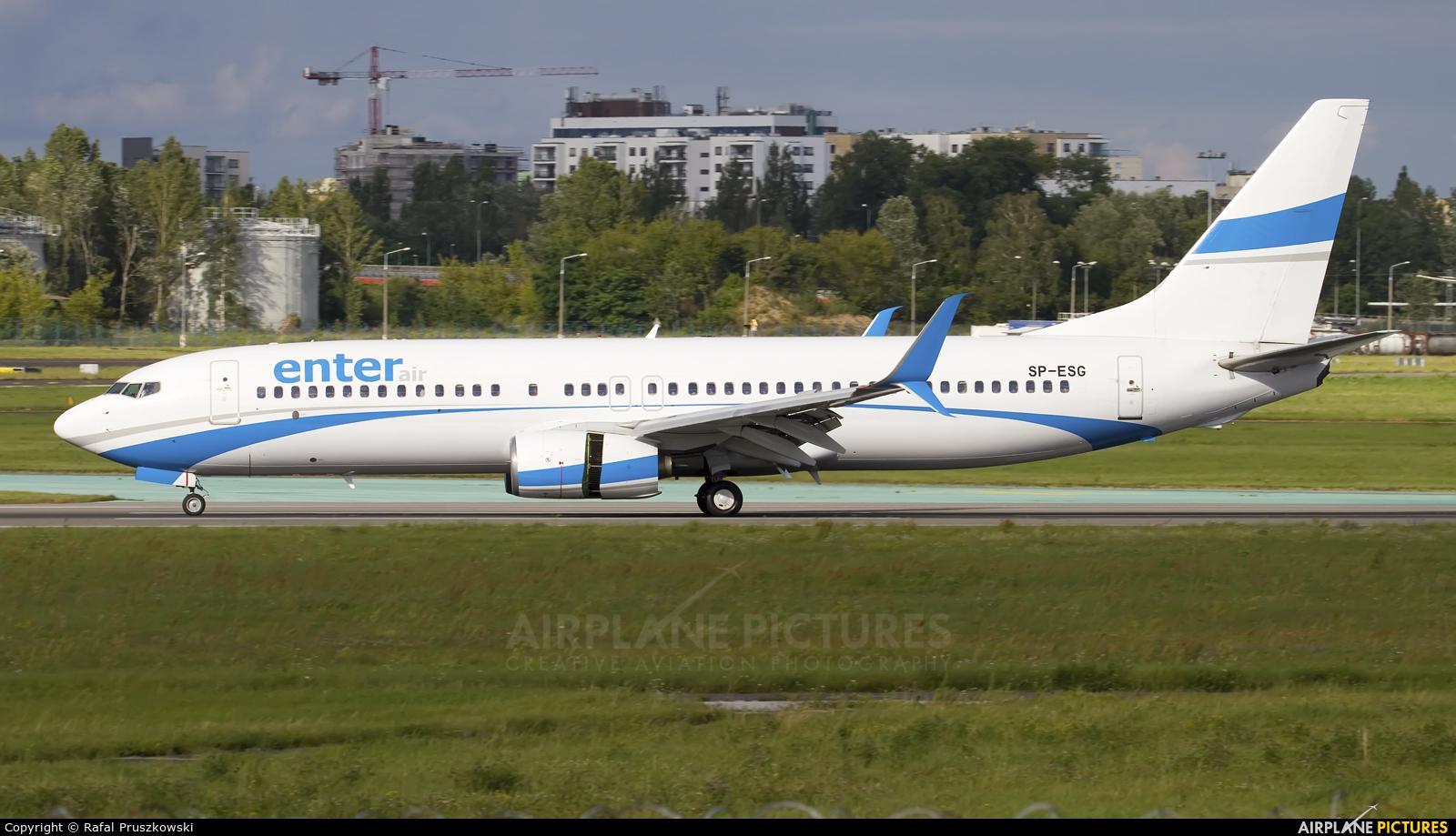 Enter Air SP-ESG aircraft at Warsaw - Frederic Chopin