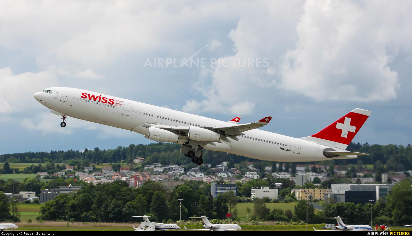 Swiss HB-JMF aircraft at Zurich