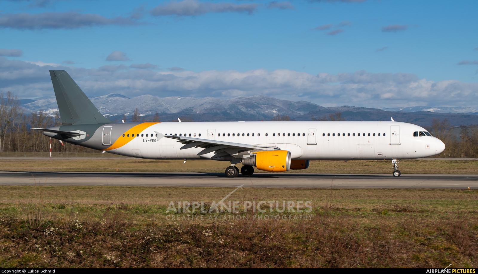 Avion Express LY-VEG aircraft at Basel - Mulhouse- Euro