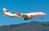 Rare visit of UAE Gov Boeing 747 to Gran Canaria title=