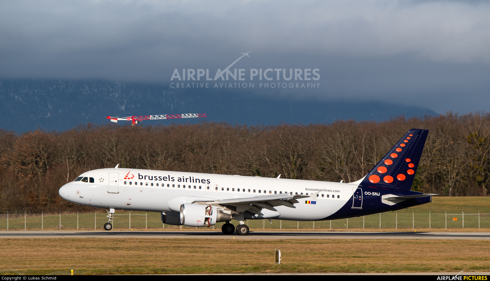 Brussels Airlines OO-SNJ aircraft at Geneva Intl