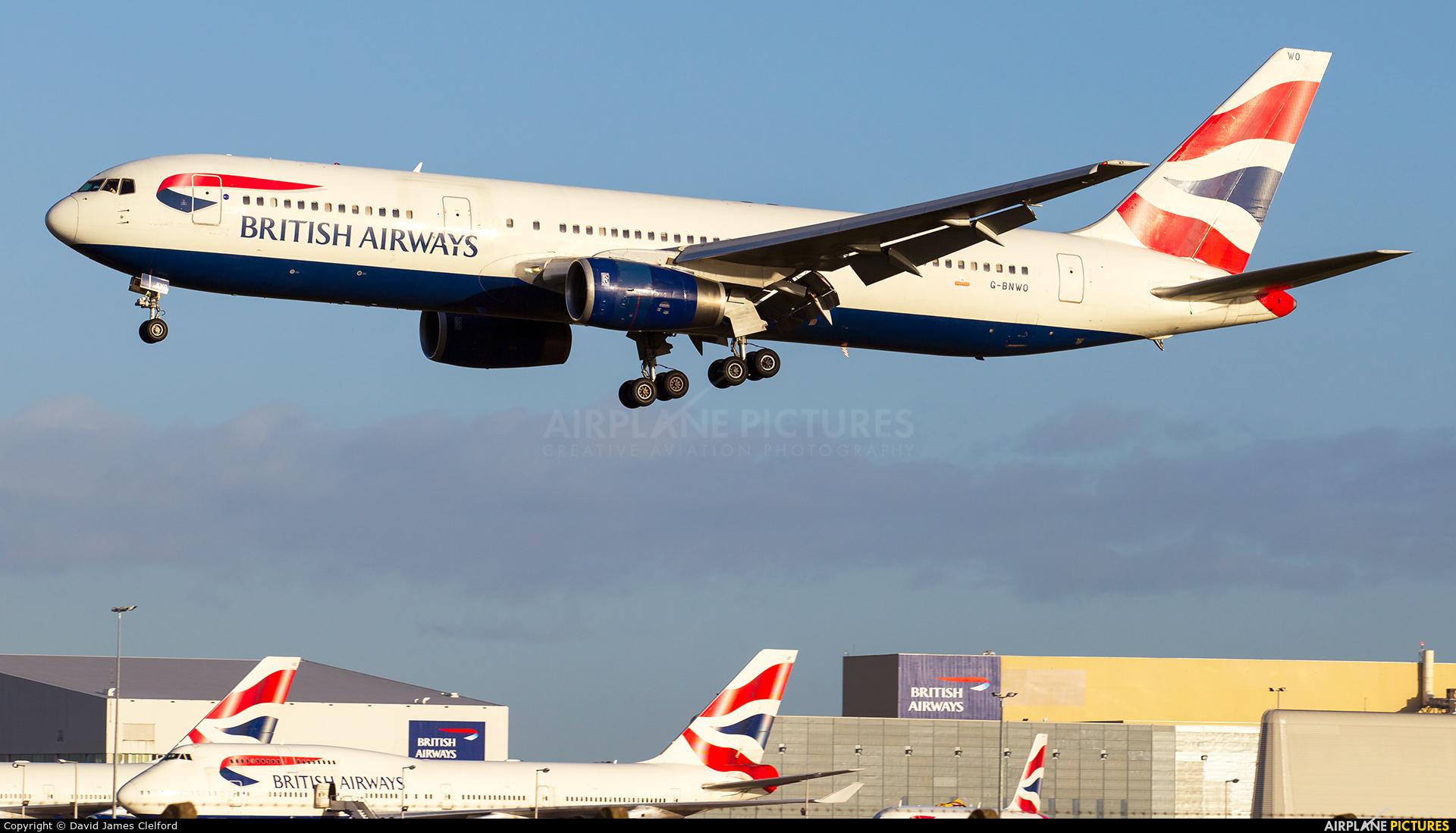 British Airways G-BNWO aircraft at London - Heathrow
