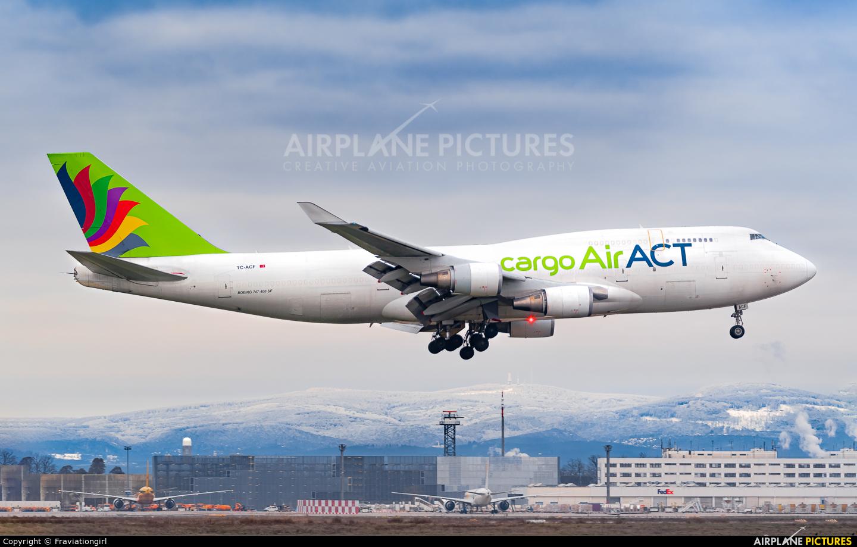 ACT Cargo TC-ACF aircraft at Frankfurt