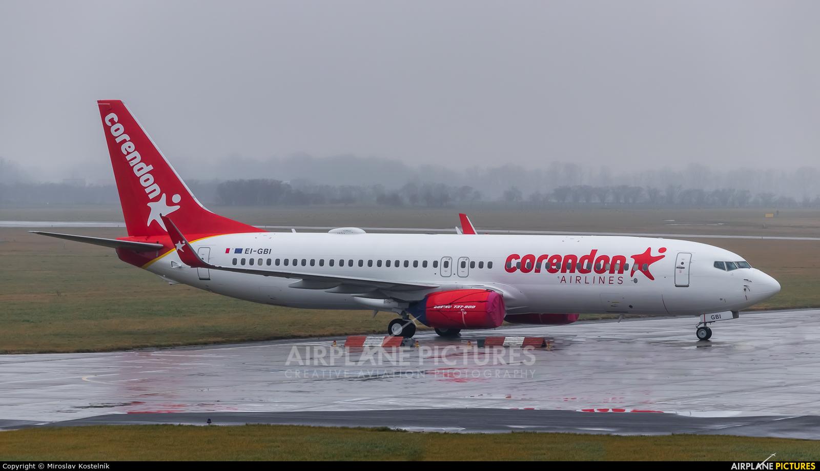 Corendon Airlines EI-GBI aircraft at Ostrava Mošnov