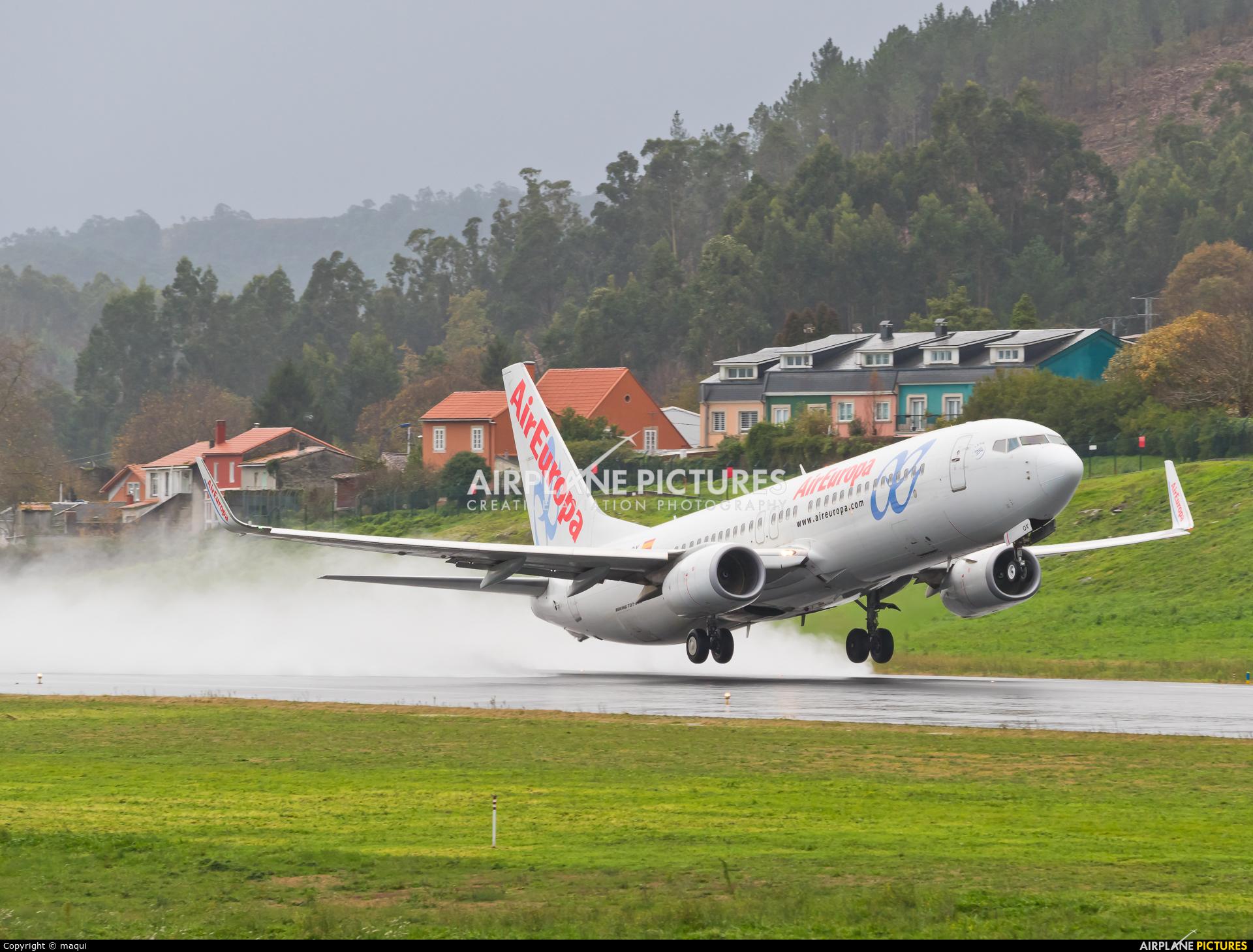 Air Europa EC-LQX aircraft at La Coruña