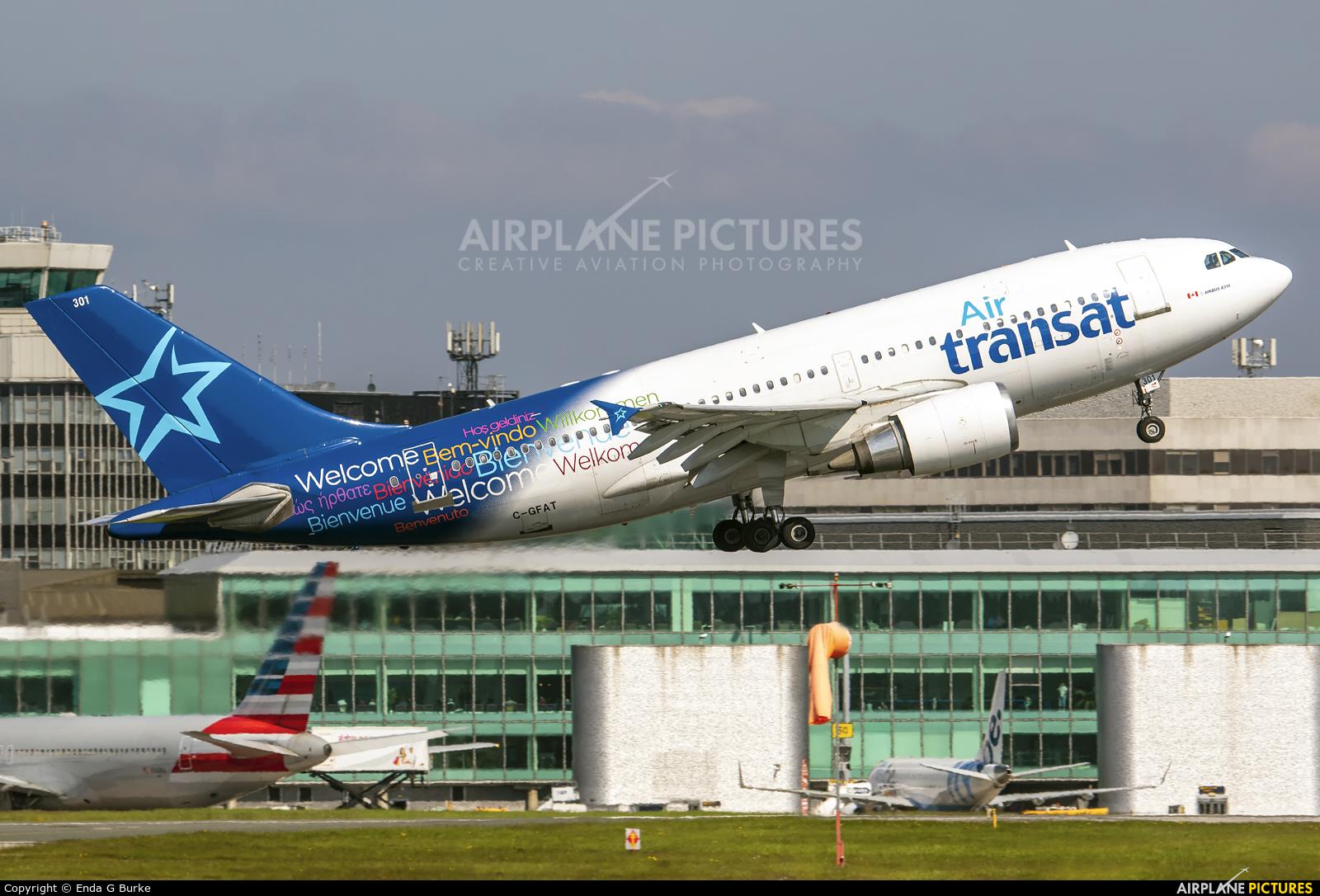 Air Transat C-GFAT aircraft at Manchester