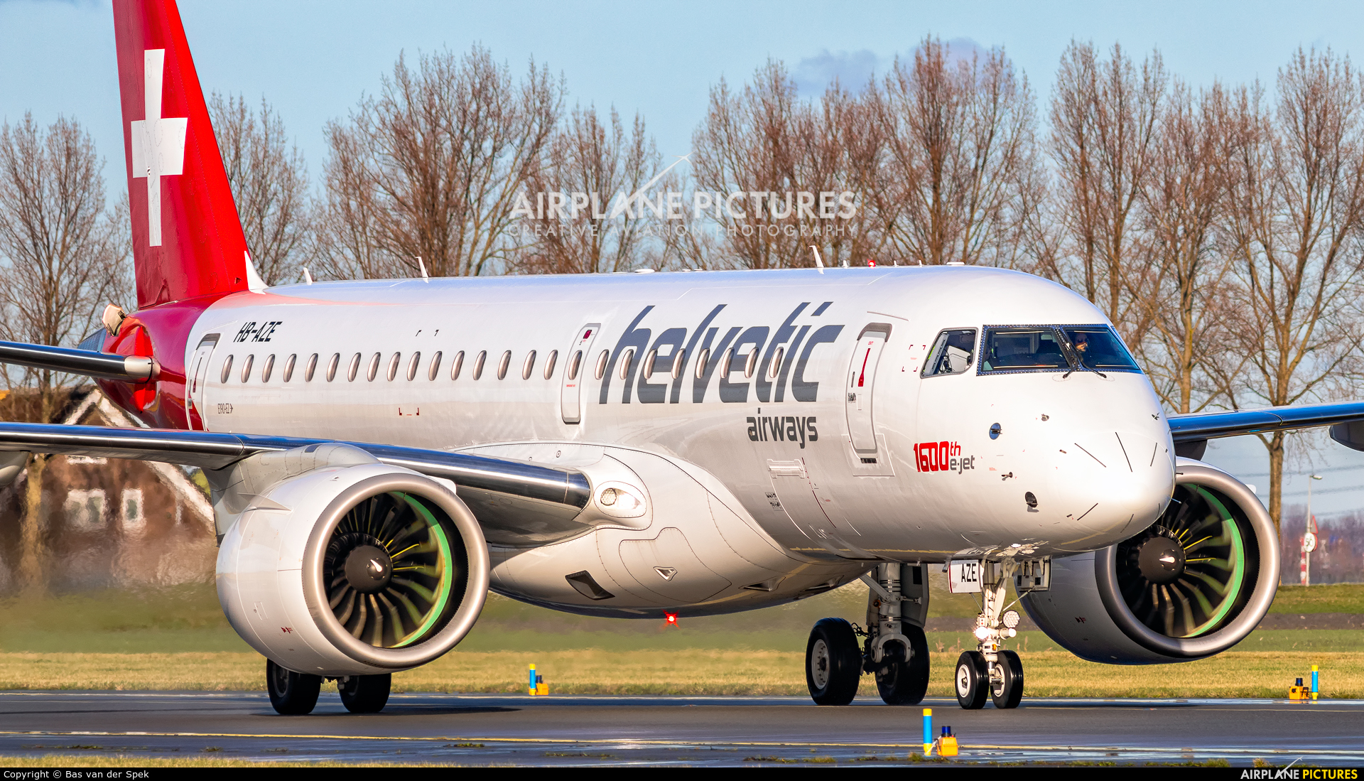 Helvetic Airways HB-AZE aircraft at Amsterdam - Schiphol