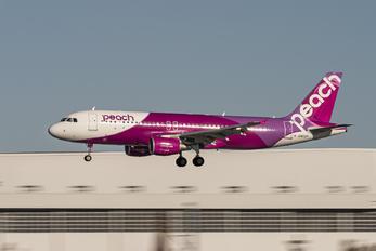 JA822P - Peach Aviation Airbus A320