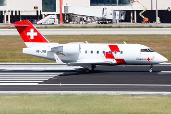 HB-JRB - REGA Swiss Air Ambulance  Canadair CL-600 Challenger 604