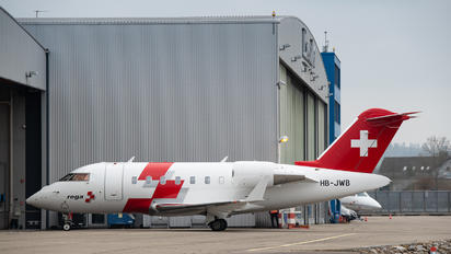 HB-JWB - REGA Swiss Air Ambulance  Bombardier Challenger 650